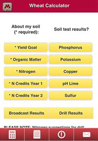Crop Nutrient Calculator App for iohone or Android